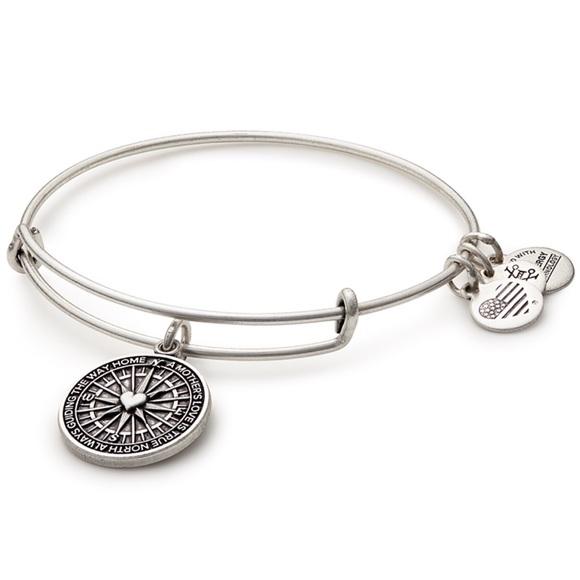 Alex and Ani Jewelry - Alex & Ani Silver True Direction Bangle Bracelet